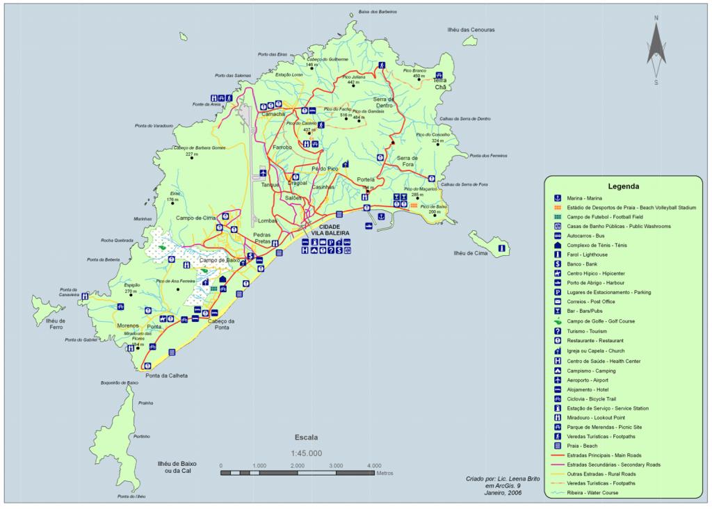 Mapa Porto Santo